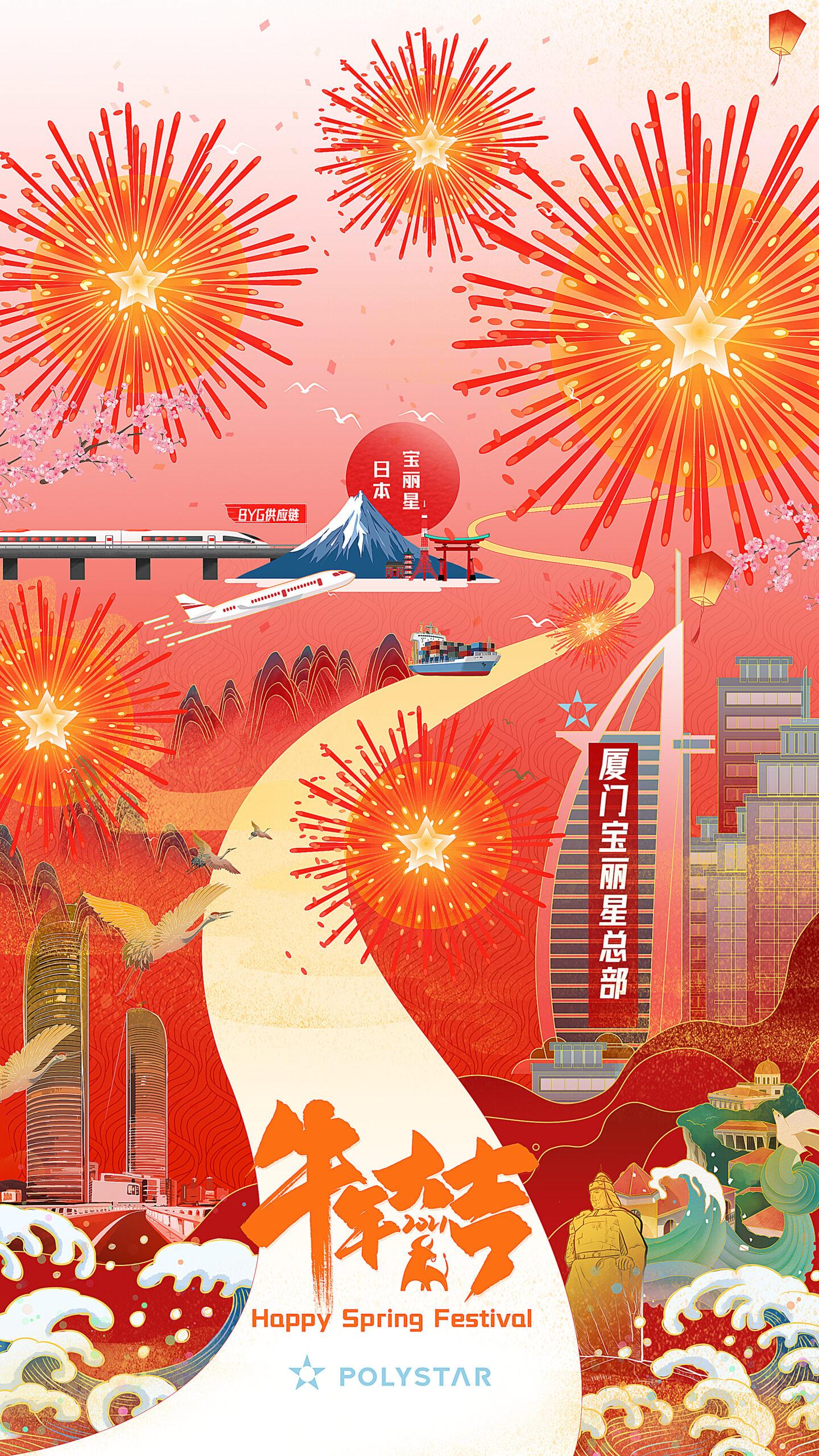 2021年中国春節に合わせて、日頃の御礼。